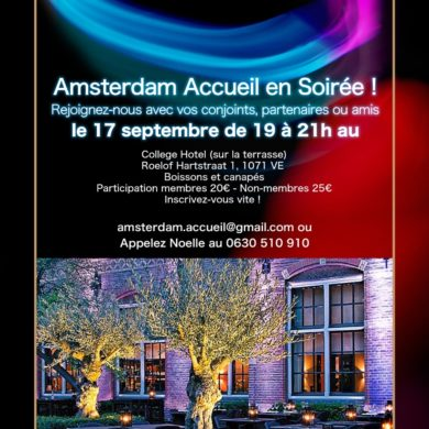 Soirée cocktail  Amsterdam Accueil / College Hotel